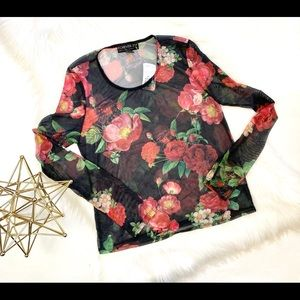 NWT Womens Forever 21 Floral Crop Top 2x